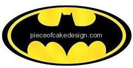 1/4 Sheet ~ Batman Logo Birthday Image ~ Edible Image Cake/Cupcake Toppe... - €7,31 EUR