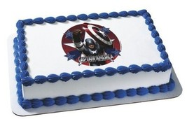 "2"" Round ~ Captain America First Avenger Birthday ~ Edible Image Cake/Cu... - $8.54"