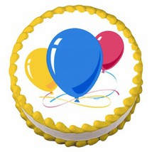 Balloons ~ Edible Image Cake / Cupcake Topper - $7.60