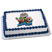 Marvel Super Hero Squad - Teamwork Edible Icing Cake Topper Party Suppli... - $8.54