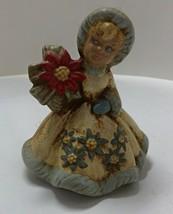 Vintage Ceramic Girl Figurine // Christmas Girl // Winter Decor - $7.00
