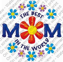 1/4 Sheet ~ Best Mom In The World ~ Edible Image Cake/Cupcake Topper!!! ... - €7,44 EUR
