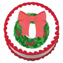 Holiday Wreath ~ Edible Image Cake / Cupcake Topper - $7.59