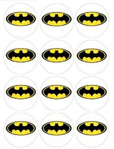 "Single Source Party Supplies - 2.5"" Batman Cupcake Edible Icing Image To... - $9.03"