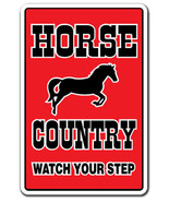 HORSE COUNTRY Sign parking horses farm farmer gift tack lover equestrian... - $7.79