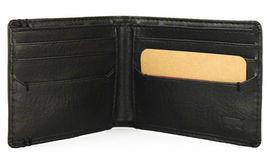 NEW LEVI'S MEN'S PREMIUM LEATHER CREDIT CARD ID WALLET BILLFOLD BLACK 31LV13C7 image 4