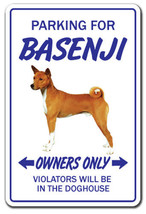 BASENJI Novelty Sign dog pet parking signs gift... - $7.79