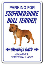 STAFFORDSHIRE BULL TERRIER Novelty Sign dog pet gift breed groom puppy a... - $7.79