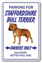 STAFFORDSHIRE BULL TERRIER Novelty Sign dog pet... - $7.79