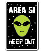 AREA 51 Alien Sign parking space aliens roswell gift spacemen ET UFO gag funny - $7.79