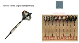Free Nickel Darts & Stone 2042 Tungsten 20g Coarse Knurl Hammer Head Steel Tips - $100.70