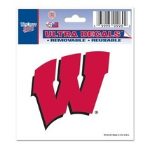 """Wisconsin Badgers Official NCAA 3""""x4"""" Car Window Cling Decal by Wincraft [Misc.] - $0.01"""