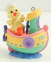 1997 Hallmark Here Comes Easter Duck Duckling on Boat Ken Crow Ornament ... - $5.99