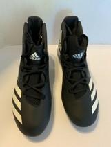 Adidas Men Sz 12.5 FREAK X CARBON mid football cleats Black White BW1414 - $21.95