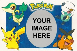 1/4 Sheet ~ Pokemon Photo Frame Birthday ~ Edible Image Cake/Cupcake Top... - $8.54
