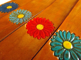 Leather Bookmark - Flower - $10.00