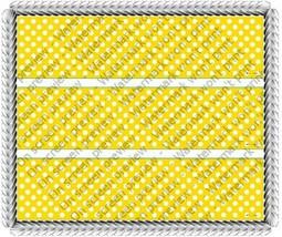 Yellow Polkadot Designer Prints ~ Edible Image Cake / Cupcake Topper!!! - $10.41 CAD
