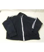 Anchor Blue Black Zip Up Sweatshirt XL Men's - $2.38