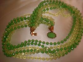 Vintage Spring Green 6 Strand Necklace - $18.00