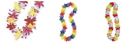 Hawaiian Hawaii Rainbow Silk Flower Lei Luau Party Hula Wedding Graduati... - $3.60+