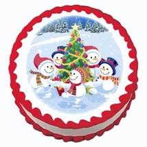 Winter Buddies ~ Edible Image Cake / Cupcake Topper - $7.60