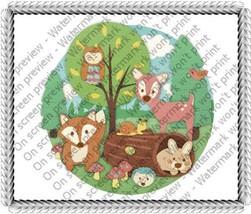"3"" Round ~ Children Woodland Animals Birthday ~ Edible Image Cake/Cupcak... - ₨662.63 INR"