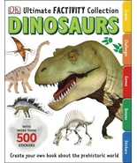 Ultimate Factivity Collection Dinosaurs DK 500 Stickers Create Learn Dra... - $15.83