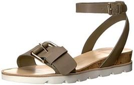 Dolce Vita Women's Virgo Flat Sandal, Black Leather, 8 M US - $41.28