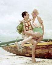 Mamie Van Doren Glamour Pin Up Photo Shoot on Beach 16x20 Canvas - $69.99