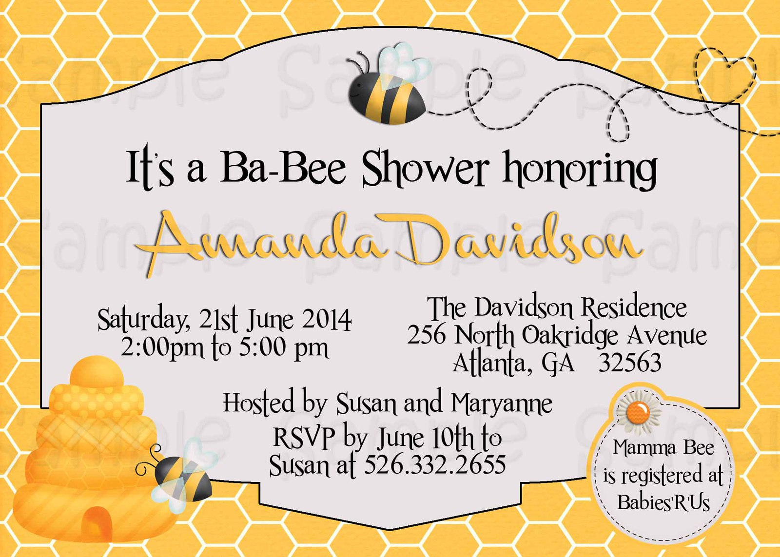 Custom Bumble Bee Baby Shower invitation and 15 similar items
