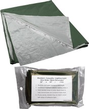 """Olive Drab Lightweight Casualty Blanket (52"""" x 84"""") - $8.39"""