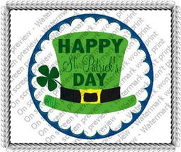 "8"" Round ~ Happy St Patricks Day Hat Birthday ~ Edible Image Cake/Cupcak... - $8.54"