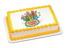 1/4 Sheet ~ Yo Gabba Gabba! Party Time Birthday ~ Edible Image Cake/Cupc... - ₹614.68 INR