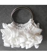 Mini white ruffled bangle bag / purse / corsage - $29.95