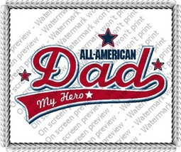 "8"" Round ~ All-American Dad.. My Hero Birthday ~ Edible Image Cake/Cupca... - $8.54"
