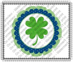 "8"" Round ~ Four Leaf Clover St Patricks Day Birthday ~ Edible Image Cake... - €7,31 EUR"