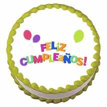 Feliz Cumpleanos ~ Edible Image Cake / Cupcake Topper - $7.59
