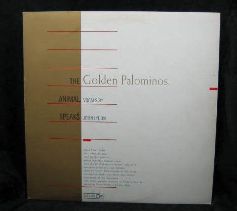 The Golden Palominos 12 Inch Single The Animal Speaks