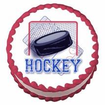 1/4 Sheet ~ Hockey Puck Birthday ~ Edible Image Cake/Cupcake Topper!!! [Misc.] - $8.54
