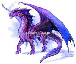 "3"" Round ~ Purple Majestic Dragon Birthday ~ Edible Image Cake/Cupcake T... - ₨596.30 INR"