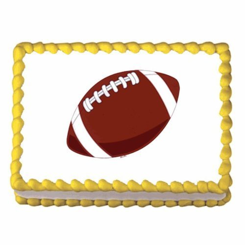 Football ~ Edible Image Cake / Cupcake Topper