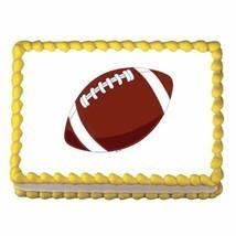 Football ~ Edible Image Cake / Cupcake Topper - $7.60
