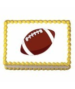Football ~ Edible Image Cake / Cupcake Topper - $7.60