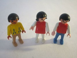 Playmobil 1981 Figures ~ Boy, Girl & Indian - $7.59