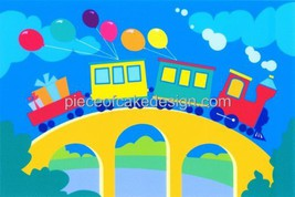 "2"" Round ~ Little Train Kids Birthday ~ Edible Image Cake/Cupcake Topper!!! - $8.54"