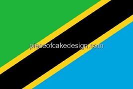 1/4 Sheet ~ Tanzania Country Flag ~ Edible Image Cake/Cupcake Topper!!! ... - $8.54