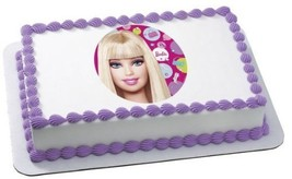 Barbie Edible Image Cake Topper - ₨533.21 INR