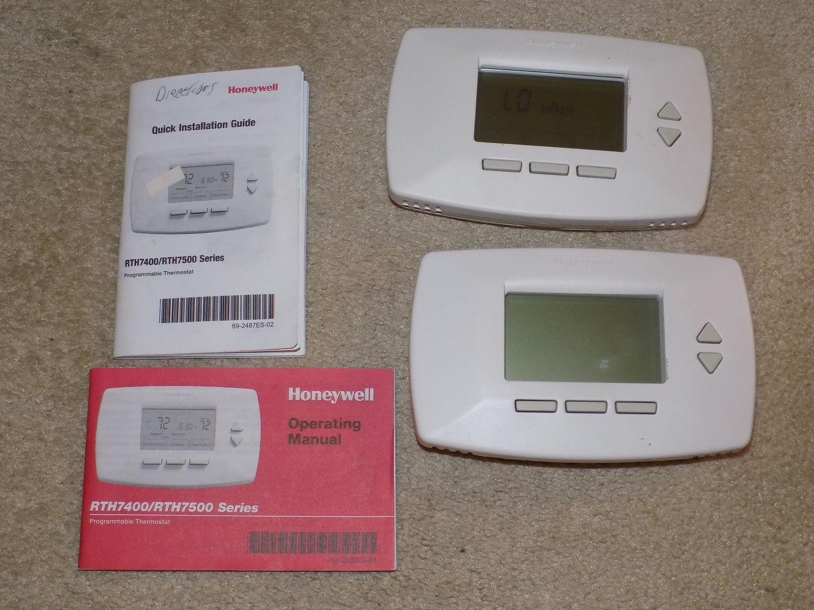 lot of 2 honeywell rth7400 rth7500 7 day and 50 similar items rh bonanza com Honeywell Alarm Keypad Manual honeywell rth7600 manual