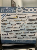 Jigsaw Puzzle WWII Airplane Aircraft Puzzles 300 Piece Small Box High Quality - $17.82