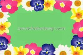 Flowers Frame ~ Edible Image Cake / Cupcake Topper - $7.59